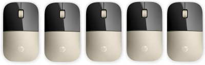 HP z3700 Wireless Mouse   Gold Pack Of 5 Wireless Optical Gaming Mouse Bluetooth, Gold