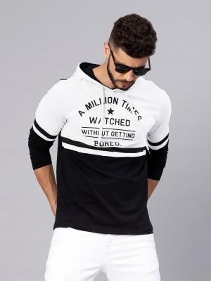 Maniac Solid Men s White, Black T-Shirt