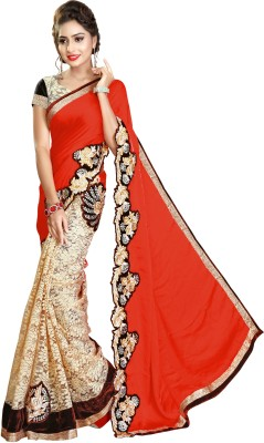 60% OFF on Nivah Fashion Embroidered Bollywood Satin Blend
