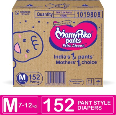 MamyPoko Pants Extra Absorb Diapers – M(152 Pieces)