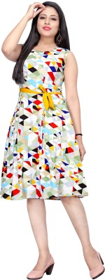 Micozy Women A-line Multicolor Dress