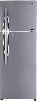 LG 335 L Frost Free Double Door 3 Star Refrigerator(Shiny Steel, GL-I372RPZY)