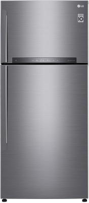 LG GN-H702HLHU 546 L 3 Star Frost Free Double Door Refrigerator, Shiny Steel