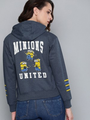 Minions by Kook N Keech Full Sleeve Printed Women Sweatshirt