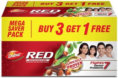 Dabur Red Toothpaste  (450 g, Pack of 3)