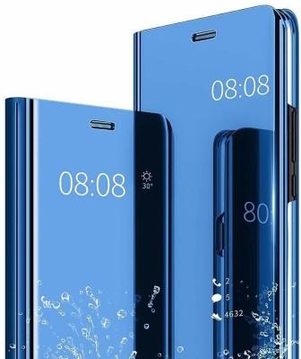 Sivansh Front & Back Case for Mirror Flip Case Cover Blue(Blue, Dual Protection)