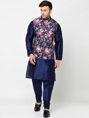 Kaifoo Men Kurta, Waistcoat and Pyjama Set