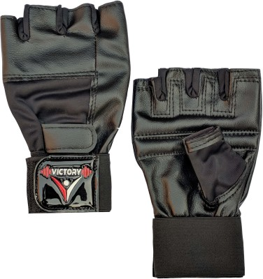 VICTORY Weight lifting - 002 Gym & Fitness Gloves(Black)
