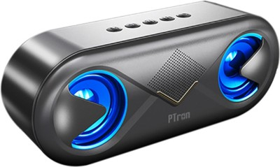 PTron Fusion 10W Bluetooth Speaker 10 W Bluetooth Speaker(Black/Gold, Stereo Channel)