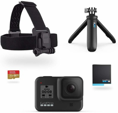 GoPro Hero8 Black Holiday Bundle Sports and Action Camera  (Black, 12 MP)