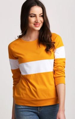 Aelomart Casual Full Sleeve Striped Women White, Yellow Top