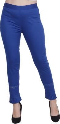POPWINGS Regular Fit Women Blue Trousers