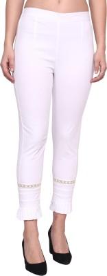 POPWINGS Regular Fit Women White Trousers