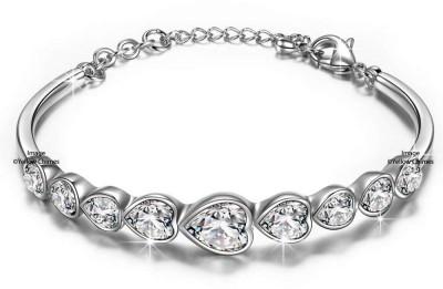 Divastri Alloy Crystal Silver Bracelet