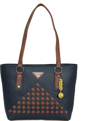 Alliya Purse Women Blue, Tan Shoulder Bag