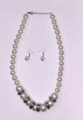 FASHIONISTA KREATIONS Metal Jewel Set White, Silver FASHIONISTA KREATIONS Jewellery Sets