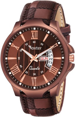 FOXTER Date and Day Display Brown Strap Brown Dial Analog Watch  - For Boys