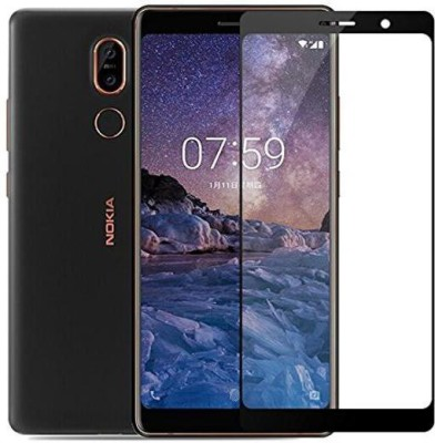 Jabox Edge To Edge Tempered Glass for Nokia 7 Plus(Pack of 1)