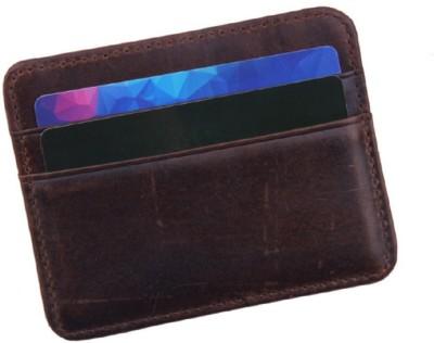 Fabfashion 4 Card Holder(Set of 1, Brown, Black)