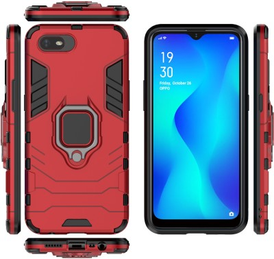 Wellpoint Back Cover for Realme C2, Plain, Case, Cover(Red, Grip Case)