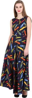 16 Always Women Maxi Multicolor Dress