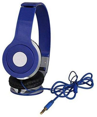 eSportic Wired Mega Bass vm46 On-Ear Headphones Wired Headset with Mic(Blue, Over the Ear)