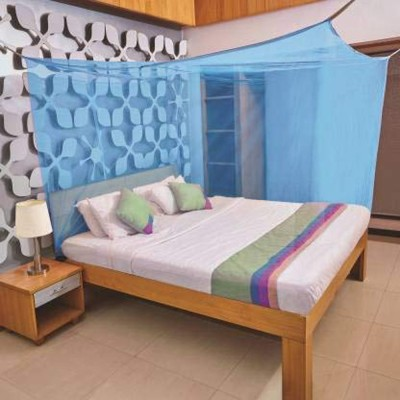 Shiv Online HDPE - High Density Poly Ethylene Adults Rectangular Fine Mesh HDPE - High Density Poly Ethylene Mosquito Net, Insect Protection Repellent, Perfect for Indoors and Outdoors Mosquito Net(Blue)