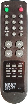 Axelleindia Universal 9 in 1 Remote Control Compatible for CRT TV (Model No.RC-66RL,RC-20R,RC-105RL,RC-24R,RC-30R,RC-30RL,RC-602,A910R,RC-37R) BPL Remote Controller(Black)