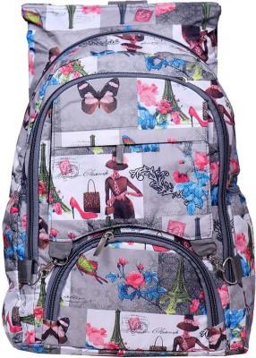 Pro Life Women Digital Printed Trendy Shoulder 10 L Backpack(Grey)