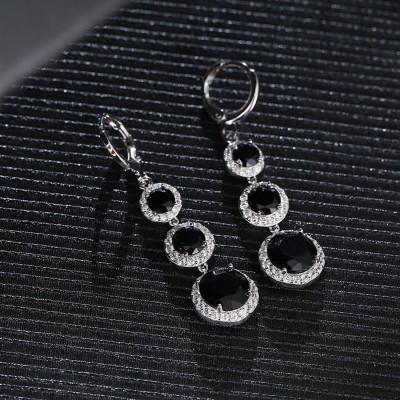 Shimmer Divine Luxuria Cubic Zirconia Copper Drops   Danglers Shimmer Divine Earrings