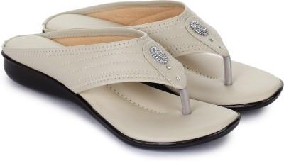 Bootco Women Off White Flats