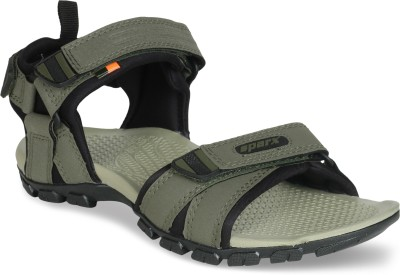 Sparx Men Olive, Black Sandals