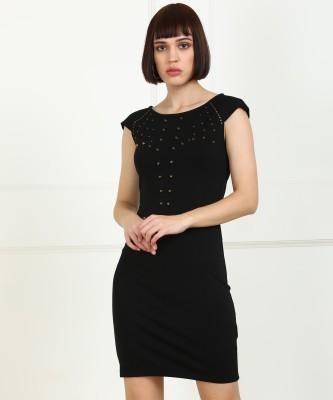 Elle Women Sheath Black Dress