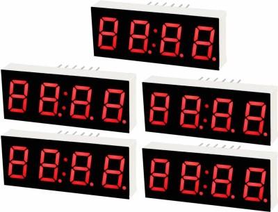 "Electrobot 5Pcs Red 4-Bit 7-Segment 0.56"" LED Digital Display Tube For DIY or Arduino Timer Counter and Clock Electronic Hobby Kit"
