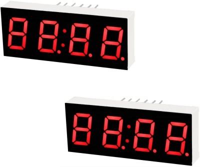 "Electrobot 2Pcs 4-Bit 7-Segment 0.56"" Red LED Digital Display Tube For DIY or Arduino Timer Counter and Clock Electronic Hobby Kit"