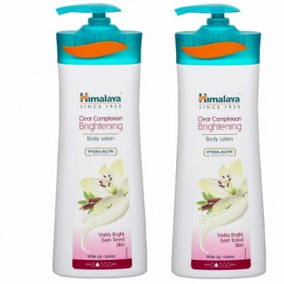 Himalaya Clear Complexion Brightening Body Lotion 400ml ( Pack of 2 )(800 ml)