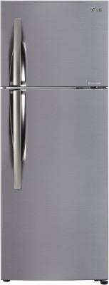 LG 284 L Frost Free Double Door 3 Star  2019  Refrigerator Shiny Steel, GL C302KPZY LG Refrigerators