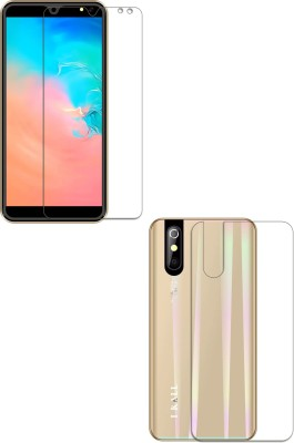 FashionCraft Front and Back Screen Guard for I Kall K200(Pack of 2)