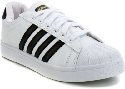 Sparx SD0323G Canvas Shoes For Men(White, Black)