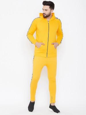 Fugazee Solid Men Track Suit