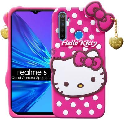 Sunshine Back Cover for Realme Narzo 10, Realme 5, Realme 5i, Realme 5s(Pink, Flexible)
