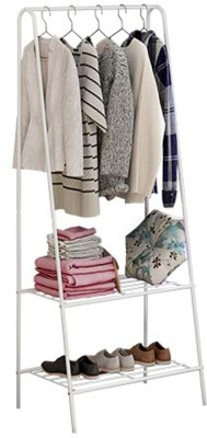 House of Quirk Steel Floor Cloth Dryer Stand SS_TRIANGULAR_CLOTHES_SHOE_RACK_WHI(3 Tier)
