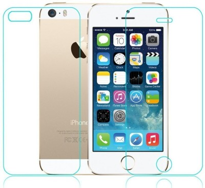 SOLIVAGANT Front and Back Tempered Glass for Apple iPhone 5s, Apple iPhone 5(Pack of 2)