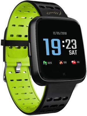 Mevofit Race-Space PRO: Fitness-Sporty Green Smartwatch(Green Strap Free Size)