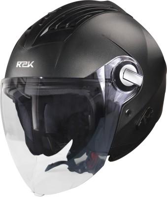 Steelbird SBA-3 R2K Classic Helmet in Black Motorbike Helmet(Black With Plain Visor)