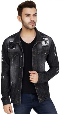 ARBIA FANKI Full Sleeve Washed Men Denim Jacket