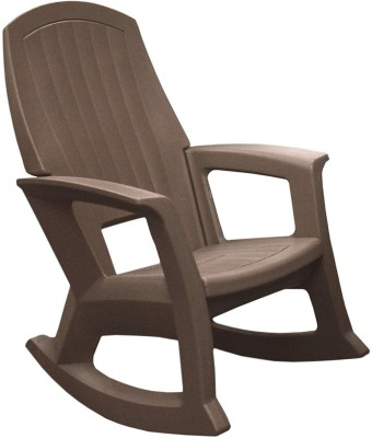 IRA Rocking CHair Plastic 1 Seater Rocking Chairs(Finish Color - Brown)