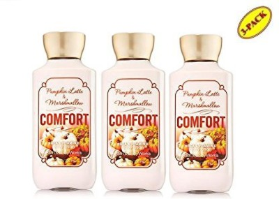 BATH & BODY WORKS Comfort Pumpkin Latte & Marshmallow Body Lotion 8oz - Lot of 3(240 ml)