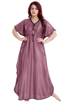 FASHIGO Women Nighty(Purple)