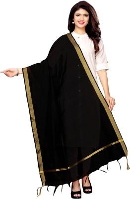 SAARA Cotton Silk Embellished, Solid Women Dupatta